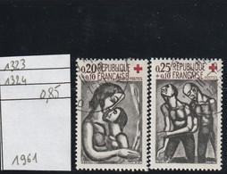 FRANCE  (1961 ) Oblitéré  N° 1323/1324 - Croix Rouge   - REF 9762 - Oblitérés