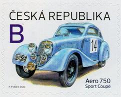 Czech Republic - 2020 - Czech Vehicles - Aero 750 Sport Coupé Racing Car - Mint Self-adhesive Booklet Stamp - Nuovi