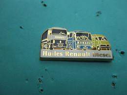 Pins Arthus Bertrand , RENAULT , Camions , Huiles Renault Diesel - Arthus Bertrand