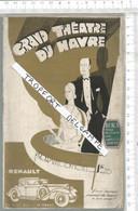 PG  / Vintage  // Superbe PROGRAMME THEATRE DU HAVRE 1931 @@ LE ROI PAUSOLE @@ 40 Pages @@@ Pub RENAULT - Programmes