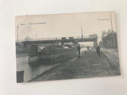 Carte Postale Ancienne (1908)  Nimy  Pont De La Marnière    D. Vinche Nimy - Mons