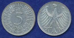 BRD 5 DM 1964D Bundesadler Ag625 - [ 7] 1949-… : FRG - Fed. Rep. Germany