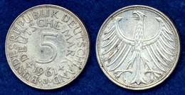 BRD 5 DM 1961J Bundesadler Ag625 - [ 7] 1949-… : FRG - Fed. Rep. Germany