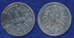 Deutsches Reich 1 Mark 1876G Kleiner Reichsadler Ag900 - 1 Mark