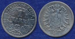 Deutsches Reich 1 Mark 1875G Kleiner Reichsadler Ag900 - 1 Mark