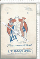 PG  / Vintage  // Superbe PROGRAMME THEATRE Des Variétés TOULOUSE 1922 @@  DOLLY @@ Publicité BANANIA - Programmes
