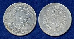 Deutsches Reich 1 Mark 1875C Reichsadler Ag900 - 1 Mark