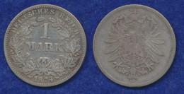 Deutsches Reich 1 Mark 1874G Kleiner Reichsadler Ag900 - 1 Mark