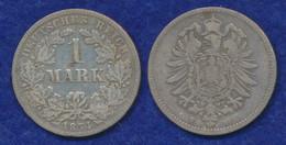 Deutsches Reich 1 Mark 1874F Kleiner Reichsadler Ag900 - 1 Mark