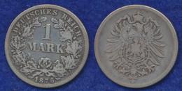 Deutsches Reich 1 Mark 1876F Kleiner Reichsadler Ag900 - 1 Mark