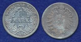 Deutsches Reich 1 Mark 1876C Kleiner Reichsadler Ag900 - 1 Mark