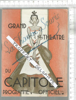 PG  / Vintage  // PROGRAMME THEATRE CAPITOLE TOULOUSE  @@ La Chauve Souris @@ Publicité RENAULT 1938 Voiture - Programmes