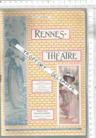 PG  / Vintage  // PROGRAMME THEATRE RENNES CONCERT 1909 @@ La LYRE Et La HARPE - Programmes