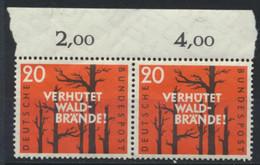 BRD 2x283 Oberrandpaar ** Postfrisch - Unused Stamps