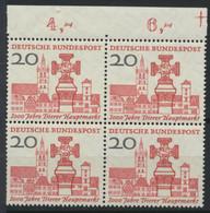 BRD 4x290 Oberrandviererblock ** Postfrisch - Unused Stamps