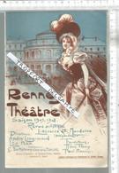 PG  / Vintage  // PROGRAMME THEATRE RENNES 1907 @@ Vivacités Du Capitaine TIC @ Langlais Tel Qu'on Le Parle @@ - Programmes