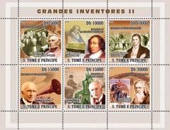 SAO TOME E PRINCIPE 2008 SHEET INVENTORES INVENTEURS INVENTORS St8208 - São Tomé Und Príncipe