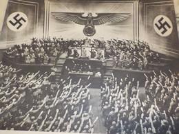 PHOTO LE REICHTAG ACCLAME LE FUHRER 1938 - 1939-45