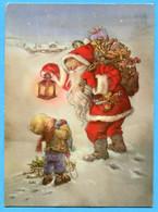 Noel  Weihnachten Christmas  Pere Noel  Weihnachtsmann Santa Claus Sign.Lisi Martin - Santa Claus