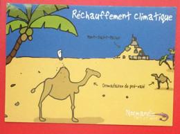 Réchauffement Climatique, Le Mont Saint Michel Avec Des Dromadaires ! La Normandie Verte! Ed Heula. - Humor