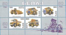 Belarus 1998, 50th Anniversary Of BelAZ Belarussian Automotive, MNH Sheet - Bielorrusia