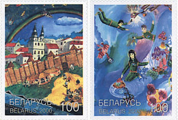 Belarus 2000, Paintings From Children, MNH Stamps Set - Bielorrusia