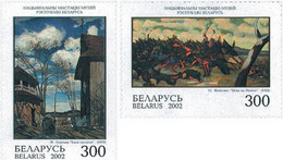Belarus 2002, Paintings From The National Museum For Culture, MNH Stamps Set - Bielorrusia