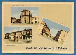 SALUTI DA SAVIGNANO SUL RUBICONE VG. 1955 FORLI' N°A161 - Forlì