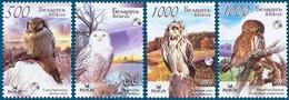 Belarus 2007, Owls, MNH Stamps Set - Bielorrusia