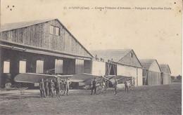 18 - Camp D'AVORD (Cher)  67 Centre Militaire D'Aviation - Hangars Et Appareils Ecole - Avord