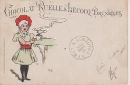 BRUXELLES - PUBLICITE CHOCOLAT RUELLE ET LECOCQ - LITHO - Ohne Zuordnung