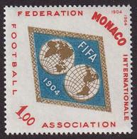 MONACO - 60e Anniversaire Fédération International Football - Y&T N° 663 - 1964 - Club Mitici