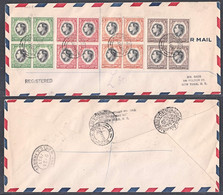 Ce0015 SOUTH WEST AFRICA 1937, SG 97-100 Coronation, Registered FDC To New York - Afrique Du Sud-Ouest (1923-1990)