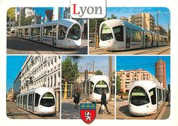 Trains - Tramways - Lyon - Le Tramway De L'agglomération Lyonnaise - Multivues - Blasons - Carte Neuve - CPM - Voir Scan - Tram