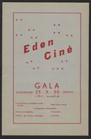 """LEUVEN * OPENING CINEMA """" EDEN """" * 1950 * 14 PP * VEEL RECLAMES * 24 X 15.5 CM * LOUVIN * CINE EDEN - Programmes"""