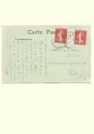 B14- Carte Postale Envoyée De CONSTANTINE Pour VICHY Le 15-04-1921 Affranchie De La Paire De Semeuse YT 138 Millésimé 1 - Covers & Documents