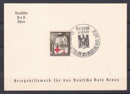 Generalgouvernement - 1940 - Michel Nr. 52 Gedenkblatt - RADOM - Sonderstempel - Bezetting 1938-45
