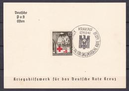 Generalgouvernement - 1940 - Michel Nr. 52 Gedenkblatt - KRAKAU - Sonderstempel - Bezetting 1938-45