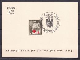 Generalgouvernement - 1940 - Michel Nr. 52 Gedenkblatt - LUBLIN - Sonderstempel - Bezetting 1938-45