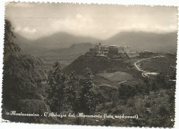 W5509 Cassino (Frosinone) - Abbazia Di Montecassino - Panorama Dal Lato Nord Ovest / Viaggiata 1953 - Andere Steden