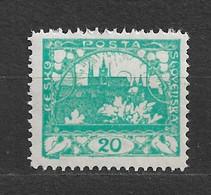 Czechoslovakia 1918 MNH ** Mi 4 A Gez. Sc 4 Hradcany At Prague. Tschechoslowakei. C6 - Czechoslovakia
