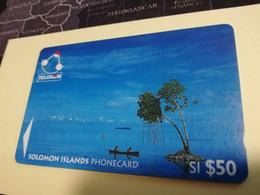 SOLOMON ISLANDS $ 50   O3SIE    CANOES IN SOLOMON     Fine Used    **3470** - Isole Salomon