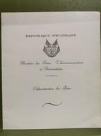 Série Timbres Offerte Par Le Ministère Des Postes Rwanda - 1962-69: Ungebraucht