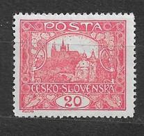 Czechoslovakia 1919 MNH ** Mi 27 C Gez. Sc 45 Hradcany At Prague.Tschechoslowakei C4 - Czechoslovakia