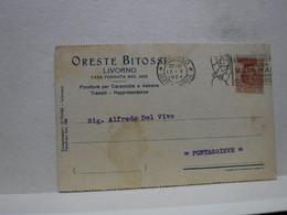 ANNULLO A TARGHETTA  --  LIVORNO  --     IL CORRIERE  ITALIANO  PUBBLICA  - MATA -HARI- 1924 - Poststempel