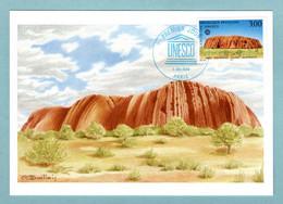 Carte Maximum 1996 - Unesco 1996 - Parc National Uluru En Australie - YT 114 - Paris - 1990-99