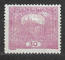 Czechoslovakia 1919 MNH ** Mi 29 Ba Gez. Sc 47 Hradcany At Prague.Tschechoslowakei. C4 - Czechoslovakia