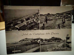 Cartolina  Saluti Da Castiglione Della Pescaia Vedutine Prov Grosseto, Via V. Veneto, Spiaggia, I Fari Sul Canale Ani 50 - Grosseto