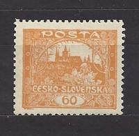 Czechoslovakia 1919 MNH ** Mi 20 B Gez. Sc 32 Hradcany At Prague. Perforated. Tschechoslowakei C5 - Czechoslovakia