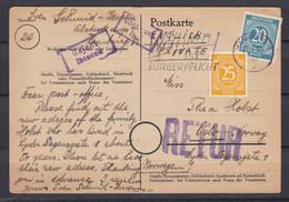 Alliierte Besetzung - 1945 - Postkarte - Hamburg Nach Oslo Mit Retour - Gemeinschaftsausgaben